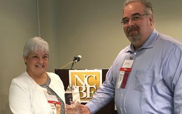 Mary Groth-Cleveland Metropolitan Bar Foundation and Jim Huggler-NCBF President